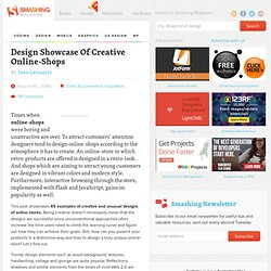Design Showcase Of Creative Online-Shops - Smashing Magazine