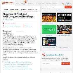 Showcase of Fresh and Well-Designed Online Shops - Smashing Magazine