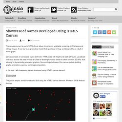 Showcase of Games Developed Using HTML5 Canvas