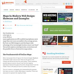 Maps In Modern Web Design: Showcase and Examples - Smashing Magazine