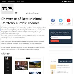 Showcase of Best Minimal Portfolio Tumblr Themes