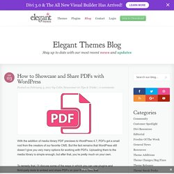 How to Showcase and Share PDFs with WordPress