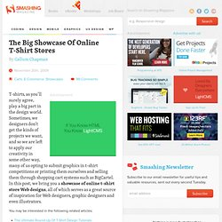 The Big Showcase Of Online T-Shirt Stores - Smashing Magazine