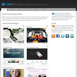 Joomla showcase and Joomla webdesign gallery | CMS Designs