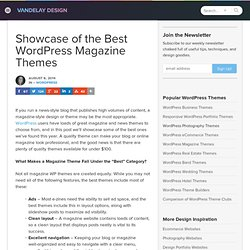 Showcase of the Best WordPress Magazine Themes