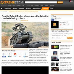 Sandia Robot Rodeo showcases the latest in bomb defusing robots