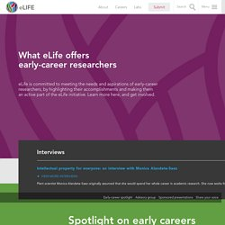 Early careers: eLife showcases junior investigators and their work