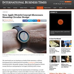 New Apple iWatch Concept Showcases Stunning Circular Design
