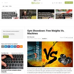 Gym Showdown: Free Weights Vs. Machines