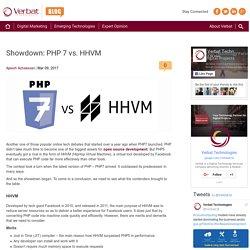 Showdown: PHP 7 vs. HHVM