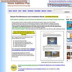 Shower Pan Membrane Liner Installation Ebook