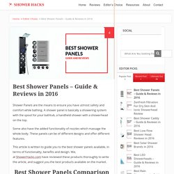 Best Shower Panels – Guide & Reviews in 2016