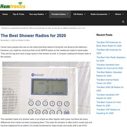 12 Best Shower Radios Reviewed and Rated in 2020 - Hamtronics