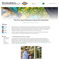 The Pre-April Showers Home Fix Checklist