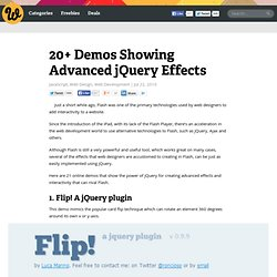 20+ Demos Showing Advanced jQuery Effects