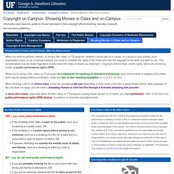 06.Info.Showing Movies in Class and on Campus