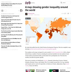 A map showing gender inequality around the world