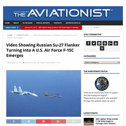 Wild video shows Russian fighter aggressively banking into a US F-15