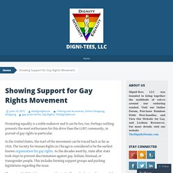 Showing Support for Gay Rights Movement