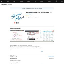 ShowMe Interactive Whiteboard on the AppStore