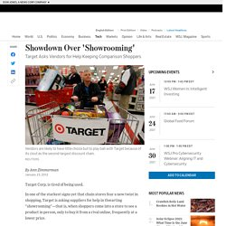 Target Sends Letter Vendors Asking for Help to Combat 'Showrooming' Comparison Shopping