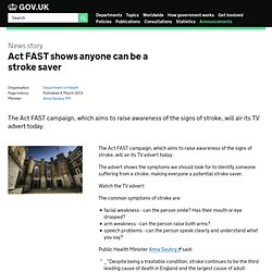 Act FAST shows anyone can be a stroke saver