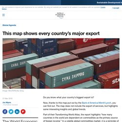 This map shows every country's major export