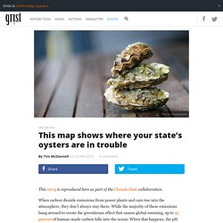 This map shows where your state's oysters are in trouble