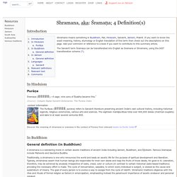 Shramana, Śramaṇa: 4 definitions