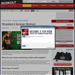 Shredded 4 Summer Workout : Workout Trainer