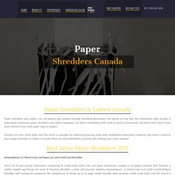 Buy Best Paper Shredders & Cutters Online Canada