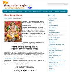Shree Ganesh Mantra