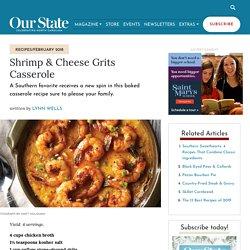 Shrimp & Cheese Grits Casserole