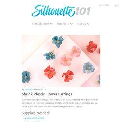 Shrink Plastic Flower Earrings