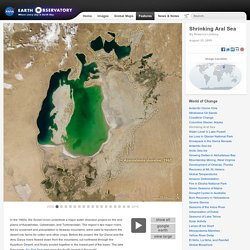 World of Change: Shrinking Aral Sea : Feature Articles