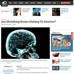 Are Shrinking Brains Making Us Smarter?