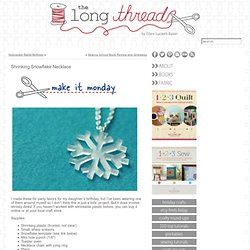 Shrinking Snowflake Necklace