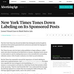 New York Times Shrinks Labeling on Its Natives Ads