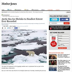 Arctic Sea Ice Shrinks to Smallest Extent Ever Recorded