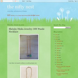 Shrinky Dinks Jewelry: DIY Puzzle Necklace