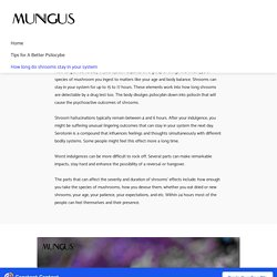 How long do shrooms stay in your system - Mungus Mushrooms