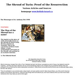 The Shroud of Turin: Proof of the Resurrection