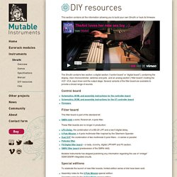 Shruthi – DIY resources