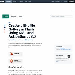 Create a Shuffle Gallery in Flash Using XML and ActionScript 3.0