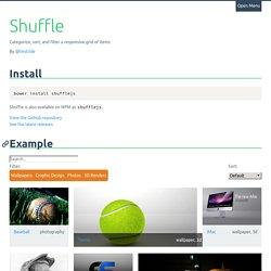 Shuffle.js
