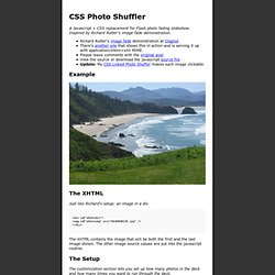 CSS Photo Shuffler by Carl Camera : Demonstration Site