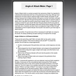 Jeff Shultz's Sonex #0604 Web Site: Angle of Attack Meter - Page 1