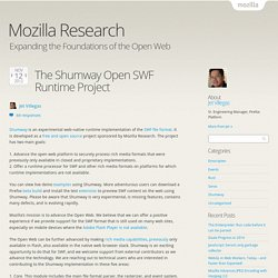 The Shumway Open SWF Runtime Project