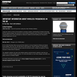 Shure Wireless Frequencies Guide