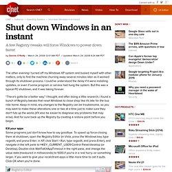 How to shut down Windows in an instant